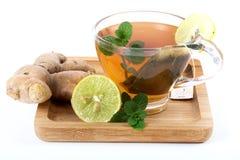 Green herbal tea Stock Photo