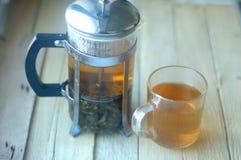 Green herbal tea Stock Images