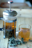 Green herbal tea Stock Photography