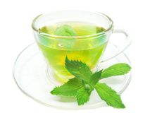 Green Herbal Tea With Fresh Mint Royalty Free Stock Photo