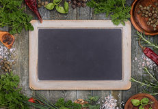 Green herbs as frame Stock Images