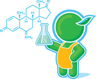 Green Hero as a Chemistry Teacher Royalty Free Stock Photos