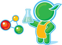 Green Hero as a Chemistry Teacher Stock Photos