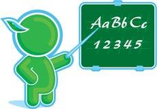 Green Hero as a Teacher. Including Vector Format stock illustration