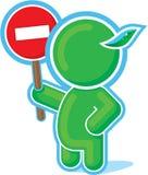 Green Hero handing Stop Sign. Including Vector Format vector illustration