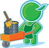 Green Hero with Paint in Cart. Including Vector Format vector illustration