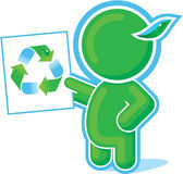 Green Hero showing Recycle Symbol. Including Vector Format royalty free illustration