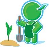 Green Hero working in the Garden. Including Vector Format vector illustration