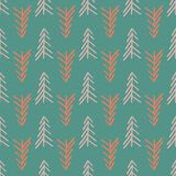 Green herringbone tree seamless repeat pattern vector illustration
