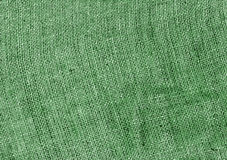 green hessian sack cloth texture. Royalty Free Stock Images