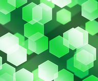 Green Hex Bokeh Background Stock Photos