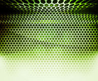 Green Hex Grid Abstract Background Royalty Free Stock Photos