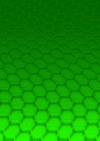 Green hexagon Royalty Free Stock Photos