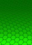 Green hexagon royalty free stock photos