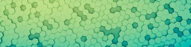 Green hexagon background. 3d illustration of a green hexagon background Royalty Free Stock Photography
