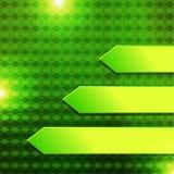 Green hexagon banner. Green arrow in hexagon background Stock Photography