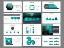 Green hexagon Bundle infographic elements presentation template. business annual report, brochure, leaflet, advertising flyer,. Corporate marketing banner stock illustration