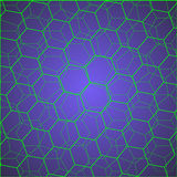 Green hexagon cells Royalty Free Stock Images