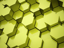 Green hexagonal business background Stock Images