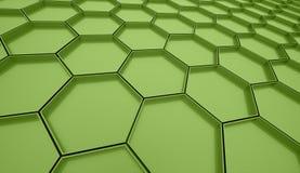 Green hexagonal cell background Stock Photo
