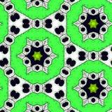 Green hexagonal geometric wallpaper in fresh colors with stars stock illustration