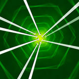 Green Hexagons Background Shows Arrows Portal Or Into Royalty Free Stock Image