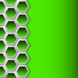 Green hexagons brochure background Royalty Free Stock Images