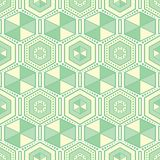 Green hexagons geometric vector seamless pattern. royalty free illustration