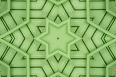 Green hexagram star Stock Photos