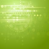 Green hi-tech vector background Stock Images
