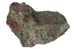 Green hibinite mineral isolated Royalty Free Stock Image