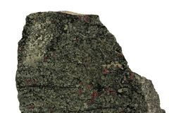 Green hibinite mineral isolated Royalty Free Stock Photography
