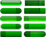 Green high-detailed modern web buttons. Royalty Free Stock Photo