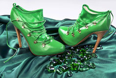 Green High Fashion Shoes. Stock Image