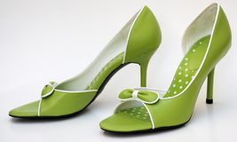 Green high heels Stock Image