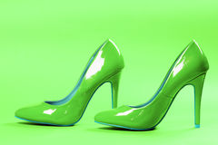 Green high heels Royalty Free Stock Image