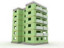 Green high-rise building without windows and doors  №3 Royalty Free Stock Photo