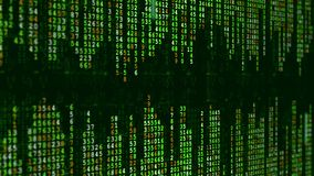 Green high-tech background. Abstract digital binary matrix effect. stock video footage