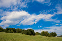 Green highland. A green highland in czech republic Royalty Free Stock Photography