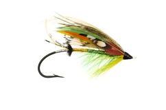 Green Highlander Salmon Fly Royalty Free Stock Photos