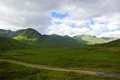 Green Highlands. The green glen and hills in the west Highlands Stock Images
