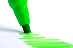 Green highlighter Stock Images