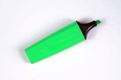 Green highlighter pen. Royalty Free Stock Photo