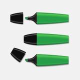 Green highlighter set vector. Royalty Free Stock Photos