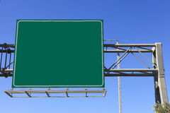 Green highway sign Royalty Free Stock Images