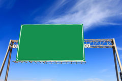 Green highway sign Stock Images