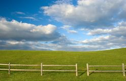 Green hill. Sunny summer day stock photos