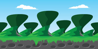 Green hill background Stock Image