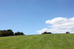 Green hill with blue sky and cloud Royalty Free Stock Image