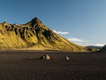 Green hill. On Laugavegur trek (Iceland Royalty Free Stock Photos